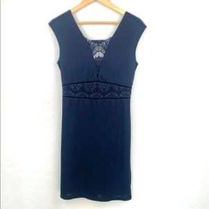 Forever 21 navy lace detail dress size medium